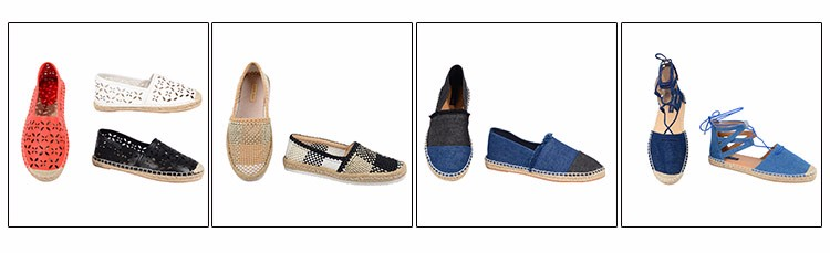 Famous Celebrated Famed Brand Shoes Made In China/Shoes For Ladies/Fabric Shoes Denim Flat cheap espadrille shoes for women