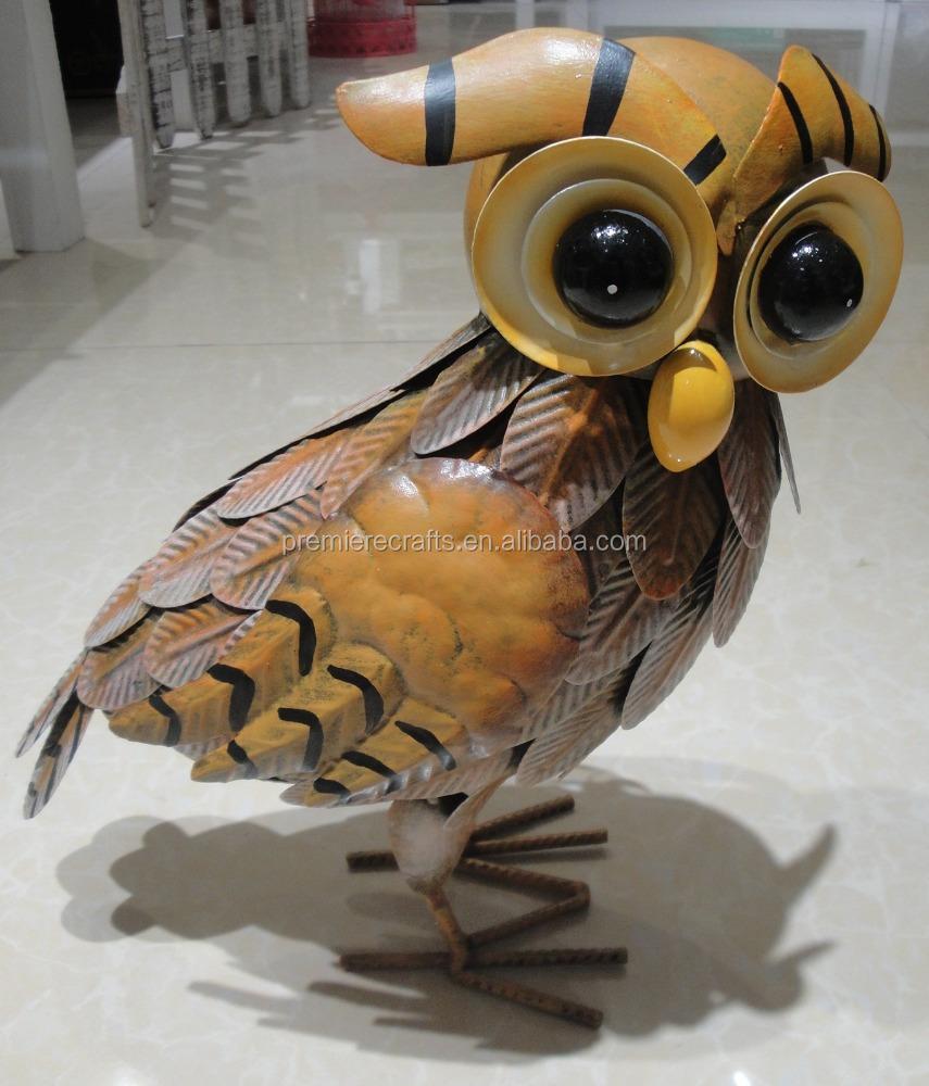 Colorful Metal Garden Insect Decoration Metal Owl - Buy Metal Garden ...