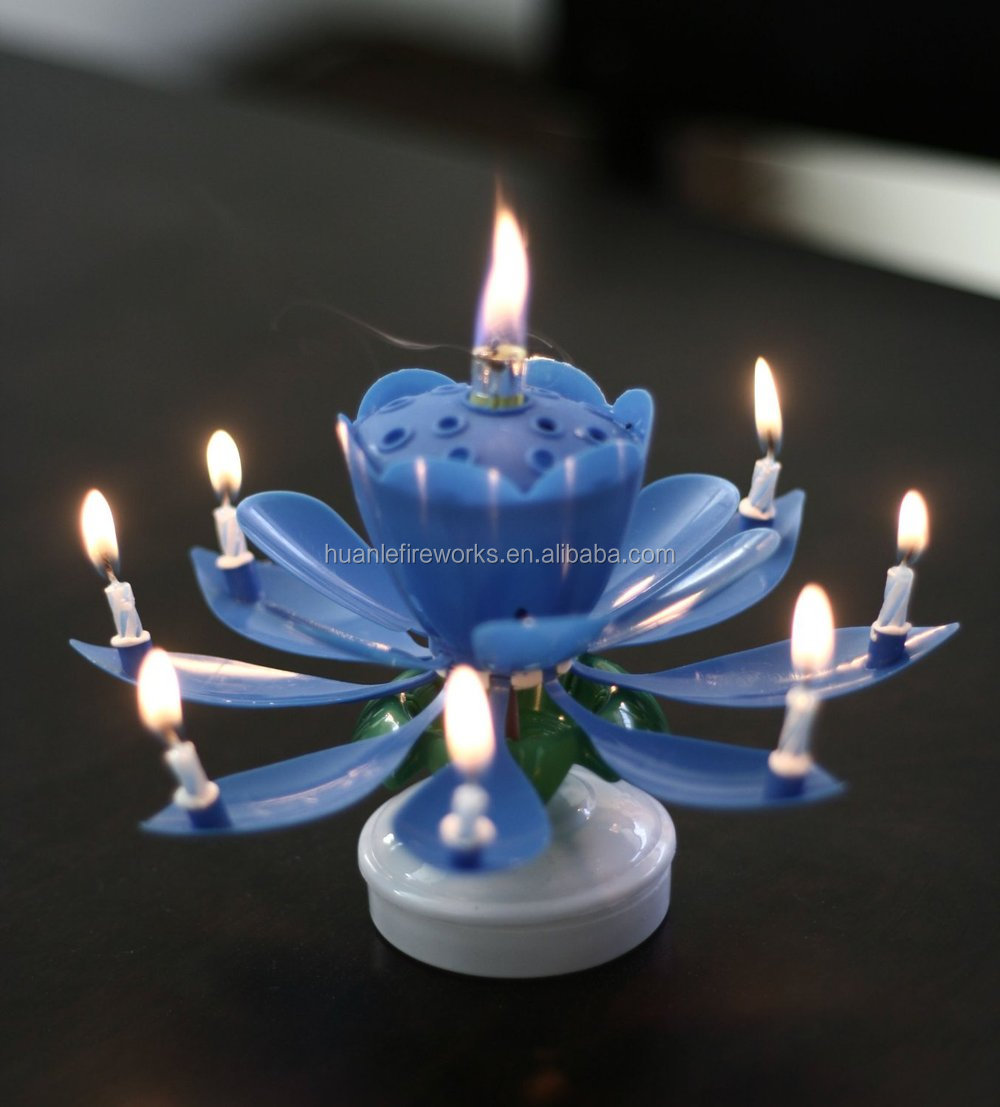 Liuyang Happy Fireworks Birthday Candle Flower Spinning For Decoration