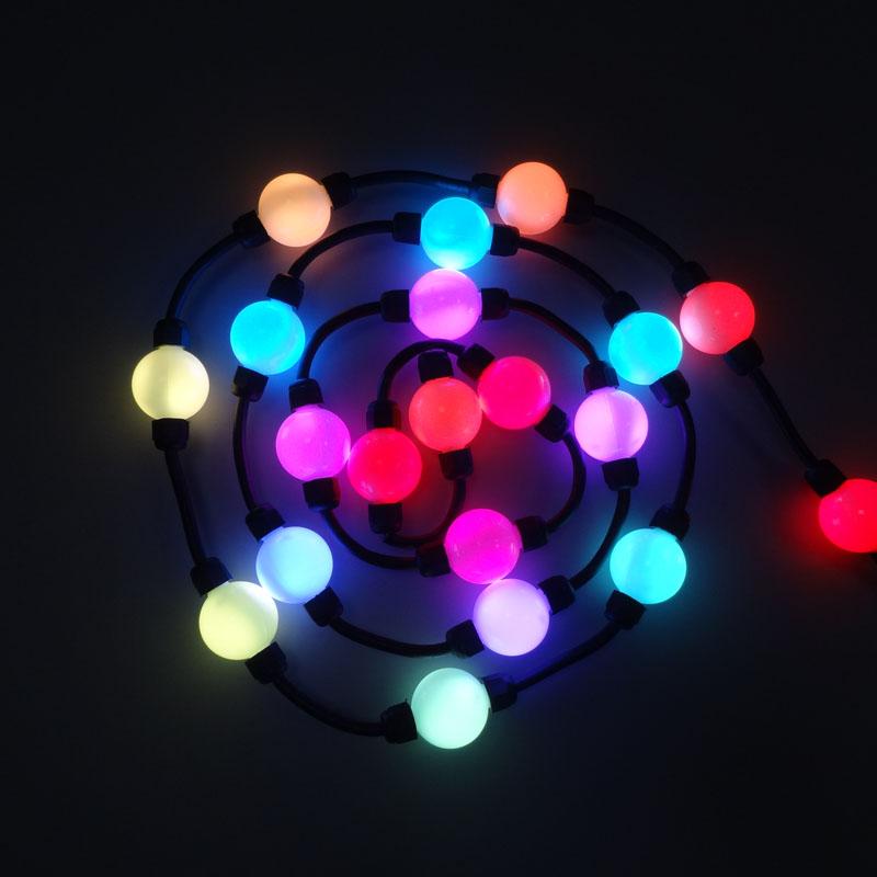50MM 3D rgb LED light up balls
