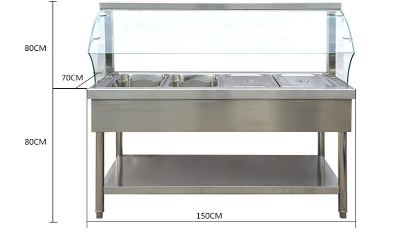Table counter soup warmer pan/food warmer/chafing dish warmer display for restaurant