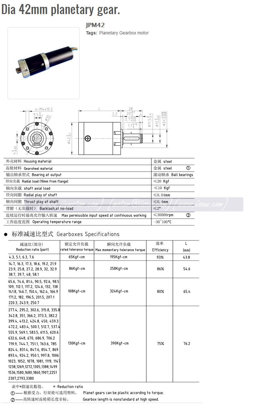 42mm Gear Box With Rs-775 Dc Motor 12 Volt Planetary Gear Reducer Motor  Aiqidi Used 350 4 Stroke Outboard Motor Boat Engine - Buy Aiqidi Outboard
