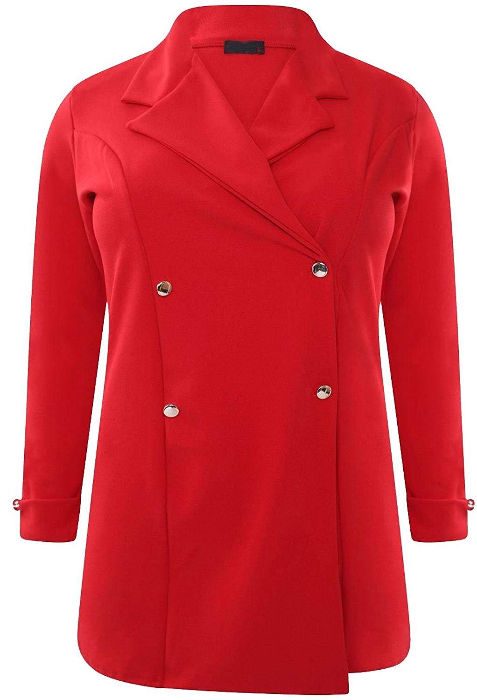 FASHION FAIRIES Womens Plain Tuxedo Collared Jacket Ladies Full Sleeve Mini Blazer Coat