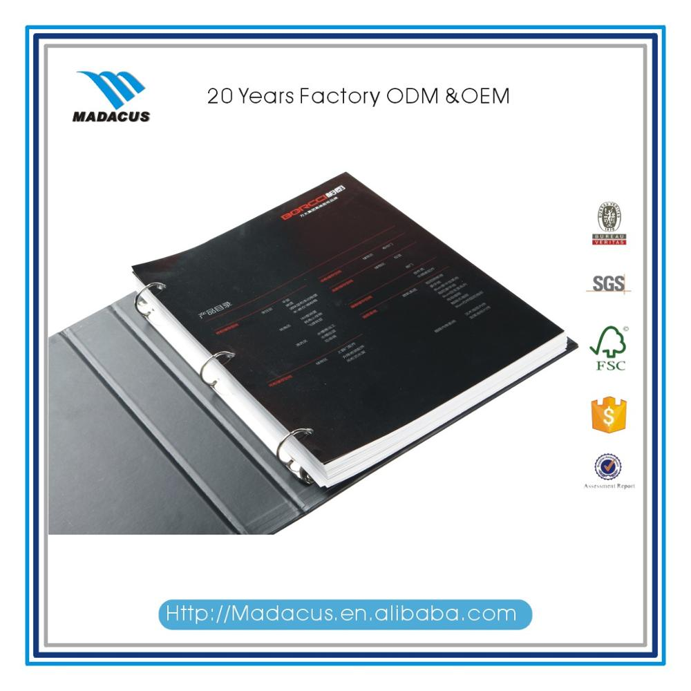 New-designed spiral bound catalogue book printing in China