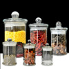 Top Quality Kitchenware Glass Storage Jar, Glass Food Canister,Glass Food/tea Jar With Glass Lid