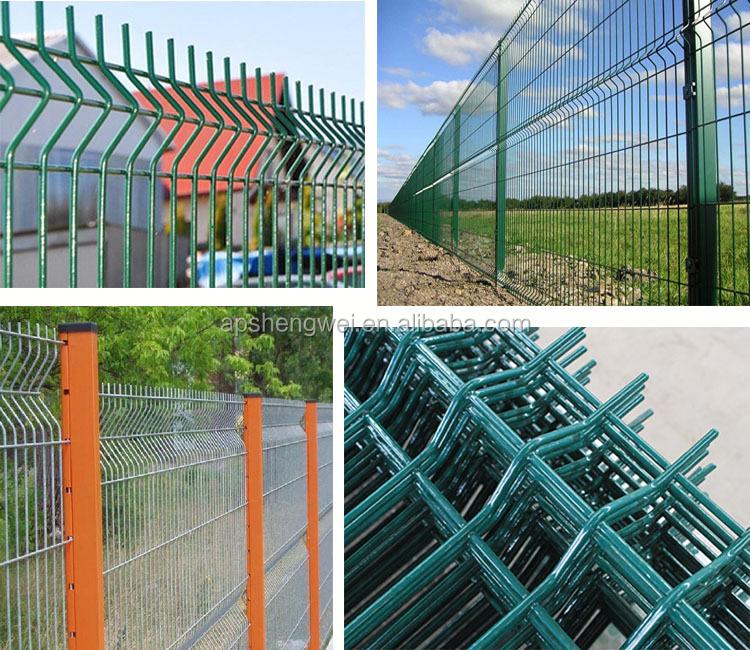 Black Welded Wire Fence Mesh Panel Backyard Metal Fence