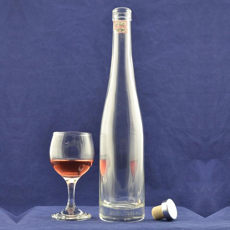 500ml Unique Shaped Liquor Alcohol Glass Wine Bottles With
