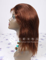 Natural hairline silk top full lace wigs women's ponytail lace front wigs human hair wig