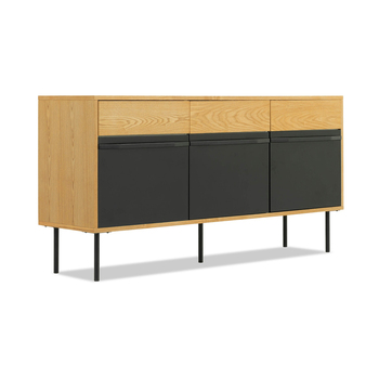 Modern dining room furniture Black Cabinet Wood Console Sideboard Table with 3 Drawer 2 Door