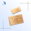 Custom design laser engraving logo walnut wood storage box wooden USB Flash Drive