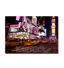 Cityscape Canvas Wall Arts / New York City Skyline Wall Pictures Framed and Stretched for Home Decor