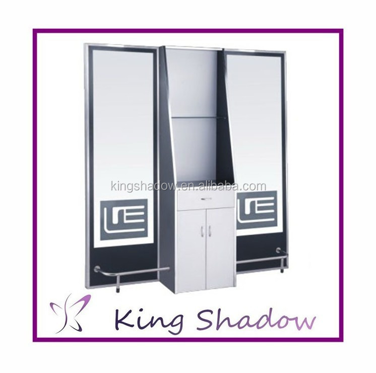 luz led cajones espejo estacin doble cara saln estacin de acero inoxidable saln moderno estilo