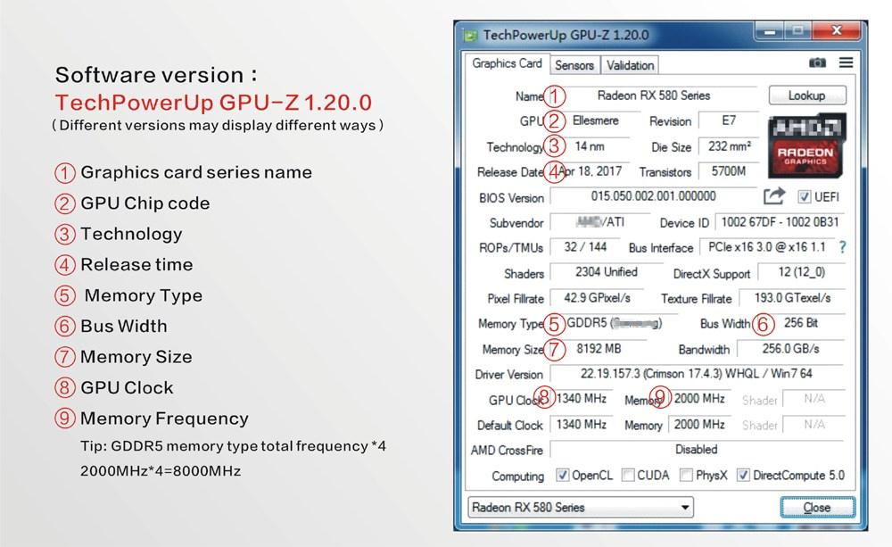 Cheap Price] Yeston Radeon RX580 8GB GDDR5 PCI Express x16 3 0 video