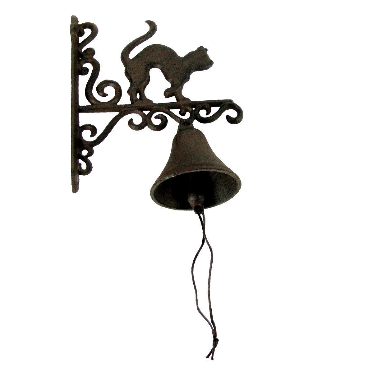 Rustic Metal Wall Mount Cat Door Call Bell Farm Garden Yard Patio Decor Doorbell