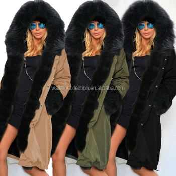 12271d661c7 Ladies Fur Lining Coat Womens Winter Warm Thick Long Jacket Down Coats For  Women Fur Trench