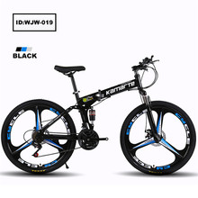 Hot sales 21-speed mountain bike dual suspension bike folding bicycle 24 inch 26 inch student double disc whole wheel drive MTB
