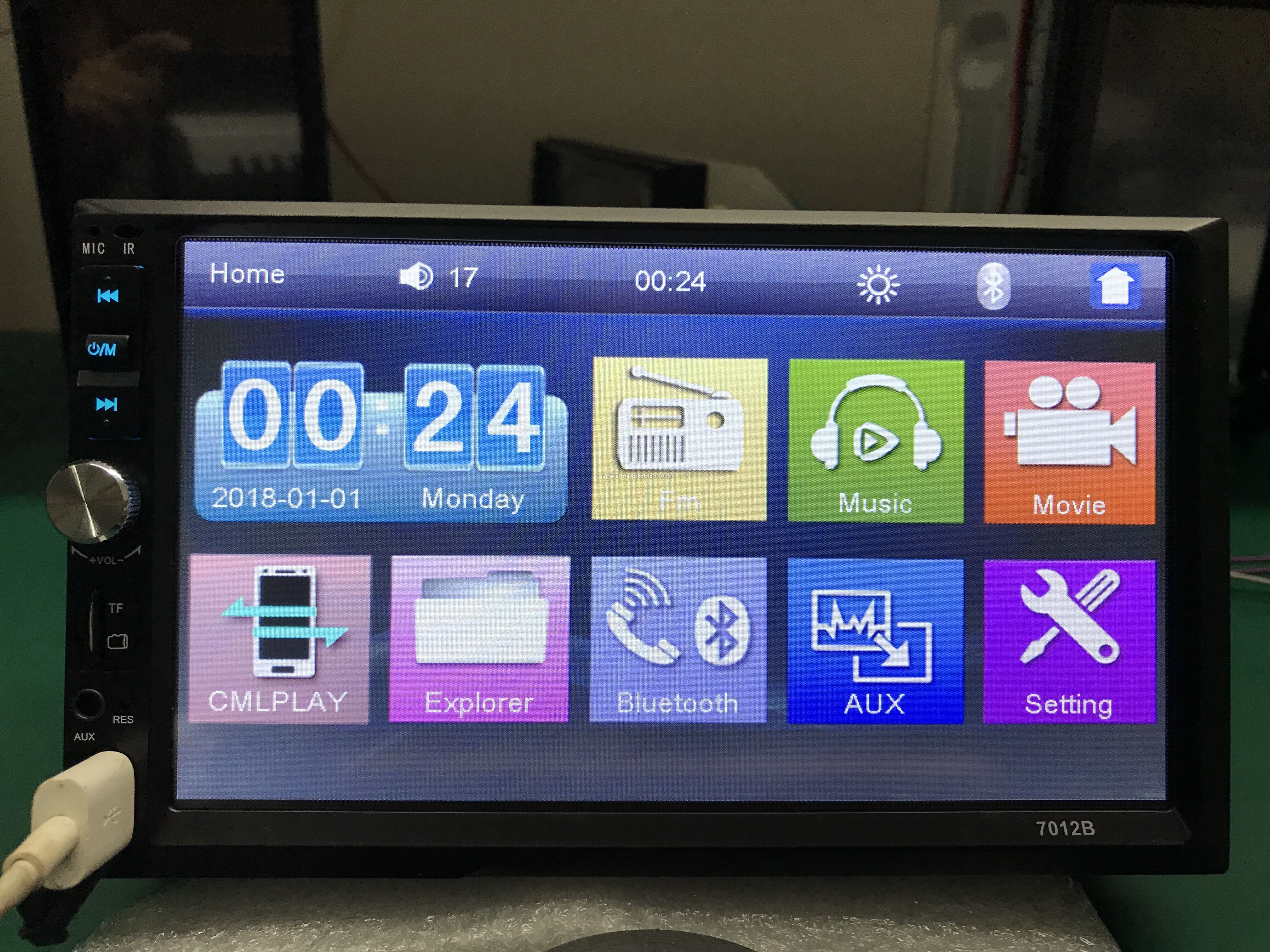 XinYoo Fabrik Beste Verkauf Beste Qualität 7 ''HD Touchscreen, auto dvd player Spiegel link und Bulit-in Bluetooth Auto MP5 Player