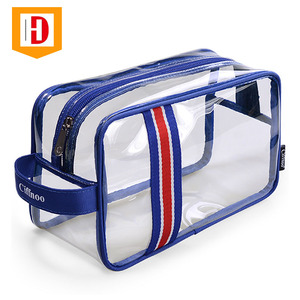 Fashion Makeup Transparent Cosmetic Pvc Vinyl Clear Travel Toiletry Bag For Men And Women