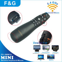 mini wireless keyboard for samsung smart tv with laser pointer and air mouse