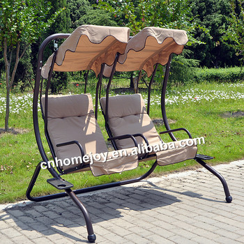 Two Seat Patio Adult Outdoor Swing Balcony Swing Chair Canopy
