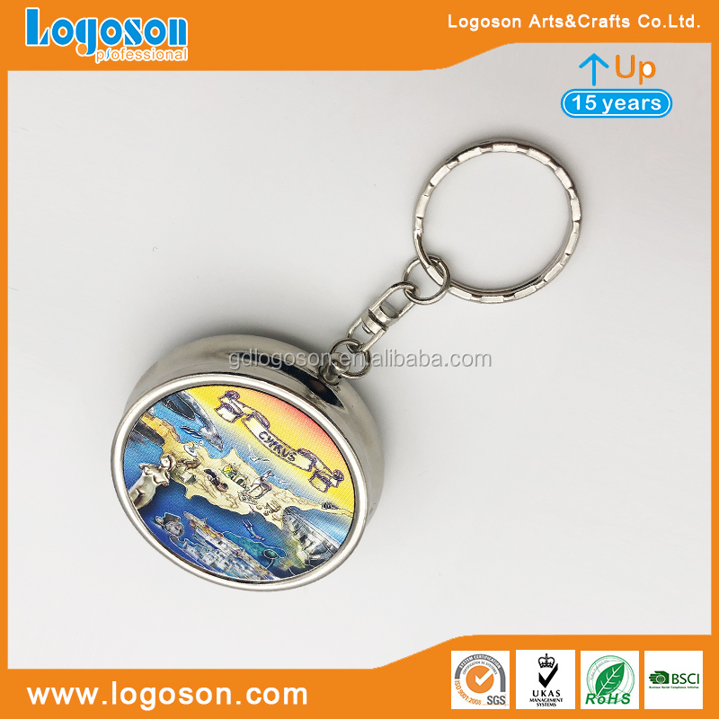 Zhongshan Factory Supplier Free Design Greece Parthenon Souvenirs One Day Pill Box Keychain