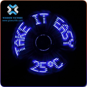 christmas flashing rainbow color led hand held fan,mini usb fan with customized led message
