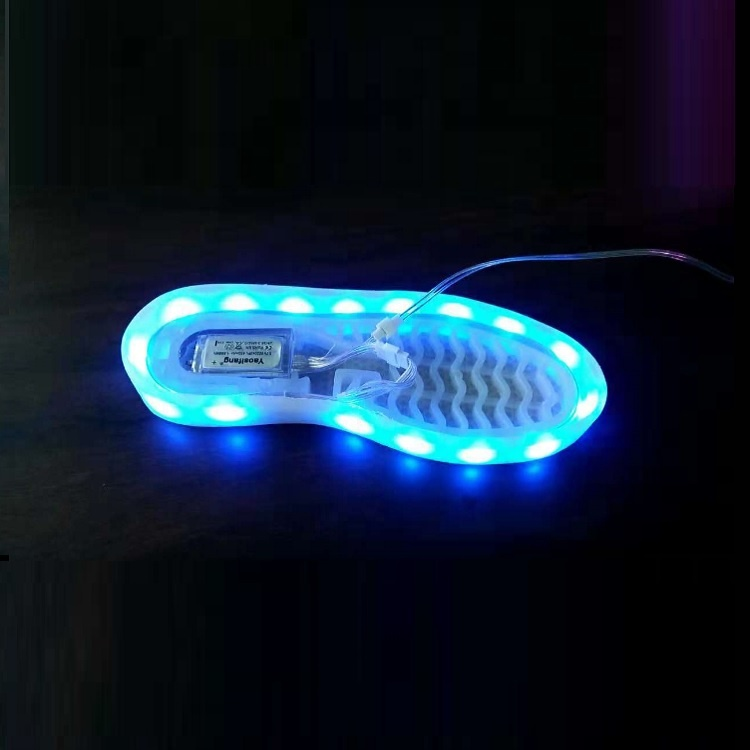 Low Voltage 5V Shoe Lamp 3528 Waterproof Strip Flash <strong>RGB</strong> Seven Color USB Charging Shoe Sole LED Strip