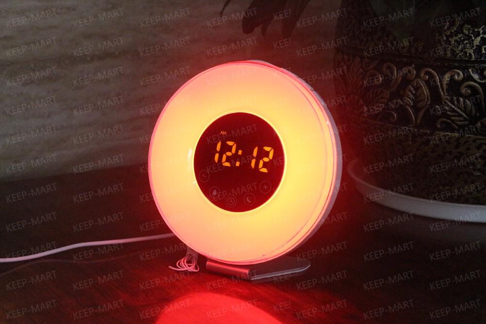 Wekker Met Licht : Touch schakelaar led display wakker licht wekker fm radio met rgb
