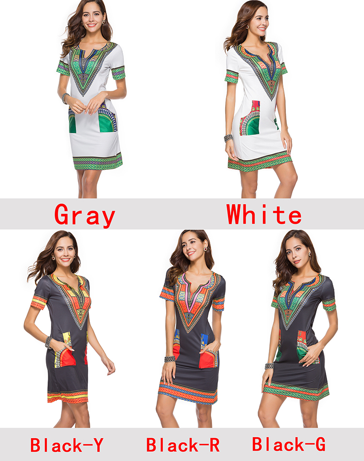 6518 wholesale Amazon  hot sale woman dress traditional african kitenge print dress designs