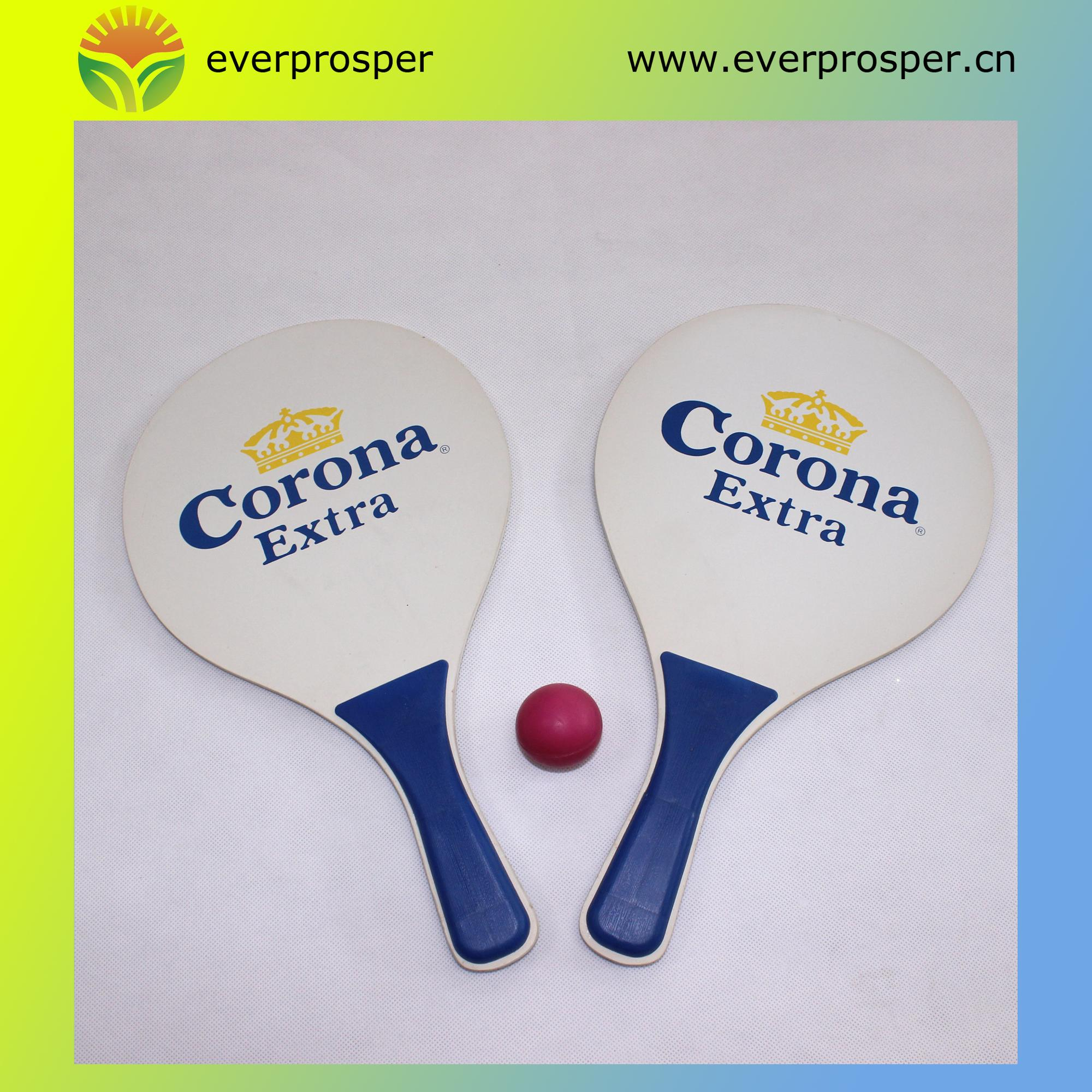 Promotion Wooden Beach Tennis Paddle Ball Racket