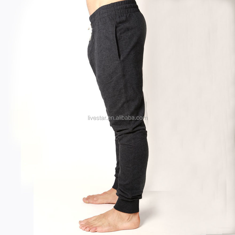 Custom men's high quality gray cotton knitted jogger pants