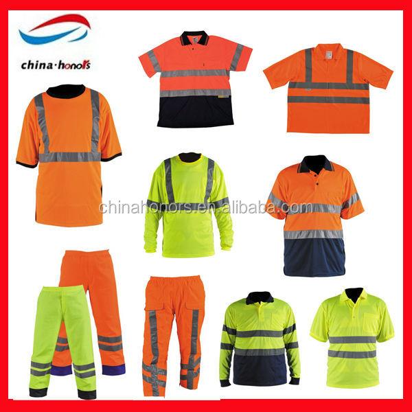 Hi Viz Ignifuge Haute Visibilité Combinaison Overalls jaune orange bleu marineS-3