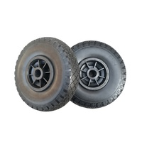 3.00-4 Pu foam wheel with plastic rim for trolley carts