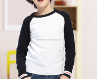 custom 100% cotton raglan sleeves knitted jumpers for kids boys