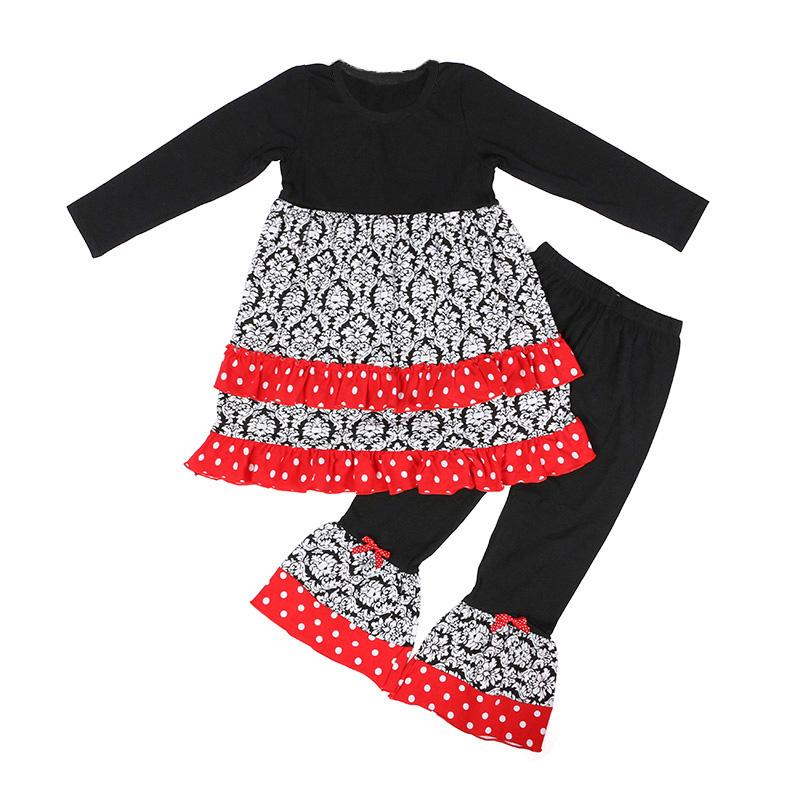 3390857f5 Boutique niñas de manga larga ropa de niños traje de niña traje de bebé  conjunto