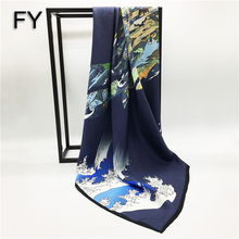 Factory Direct Hand Roll Digital Logo Print Silk Scarf
