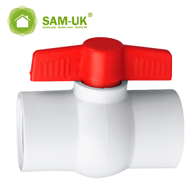 Hot Sale 3/4 PVC Ball Valve Sanitary Pipes Fittings