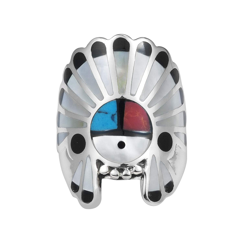 GiftJewelryShop Silver Plated Creative Native American Lizard Photo Flower Head Dangle Heart Bead Charm Bracelets