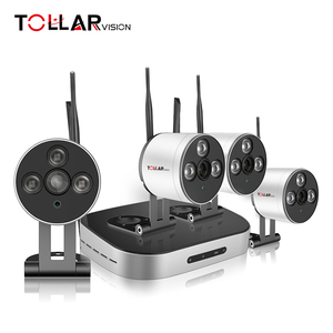 CCTV Outdoor wifi security camera 4ch mini wireless kit 720P IP Camera with NVR