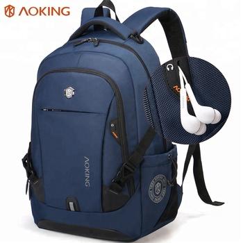 guangzhou Aoking Waterproof Men Backpack Business Computer Backpack Bag  Women Laptop Bag Backpack 15.6 inch b10dfa3d78d87