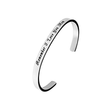 Stainless Steel High Polish Custom Words Acceptable For Her Or His Gifts Cuff Bangles Yiwu Alibaba Wholesale