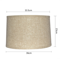 Handmade Empire Drum linen Fabric light cover floor table Lamp shade