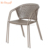 Bistro balcony stacking metal frame industrial modern simple design steel mesh iron dining chair