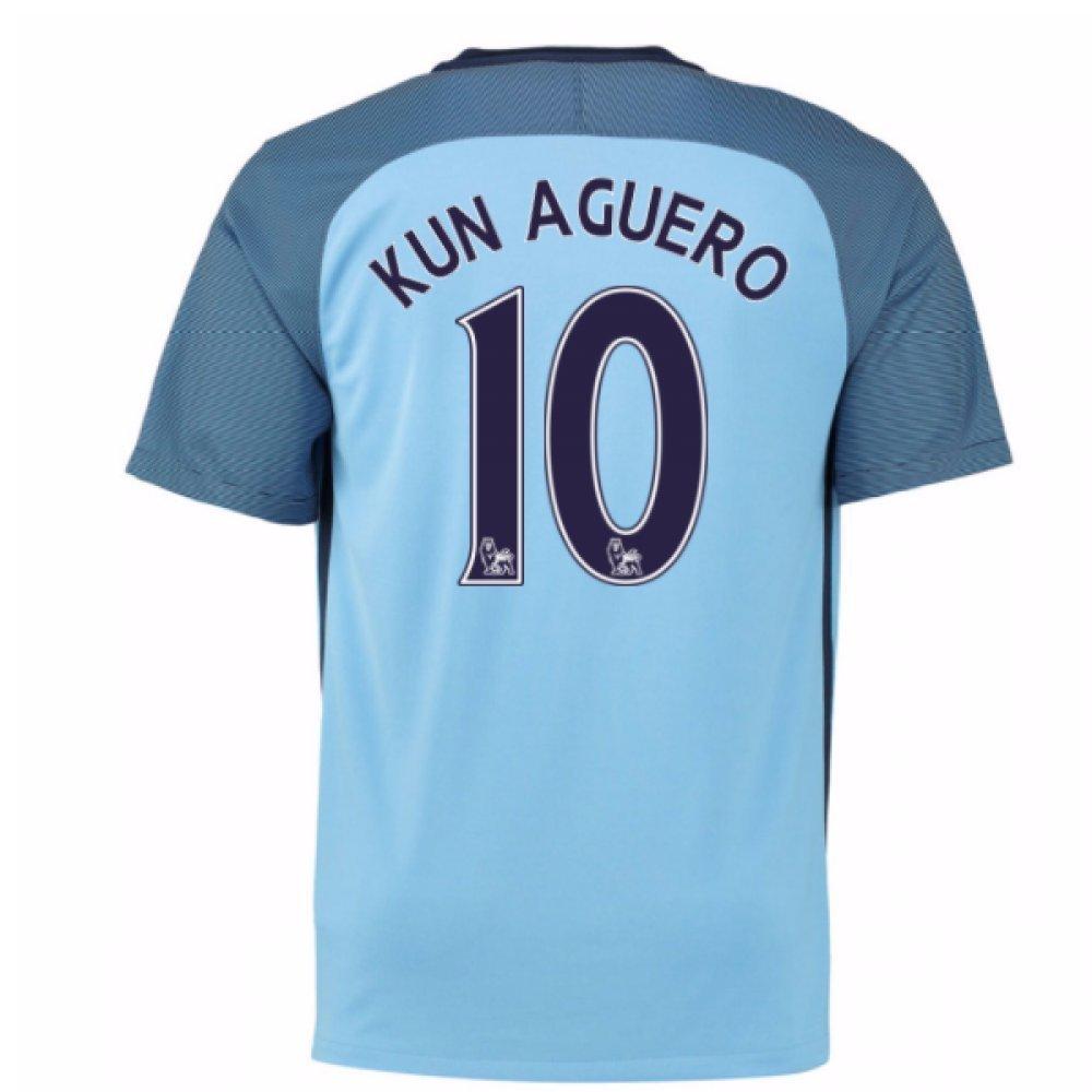 Get Quotations · 2016-17 Man City Home Shirt (Kun Aguero 10) f048ca134630b