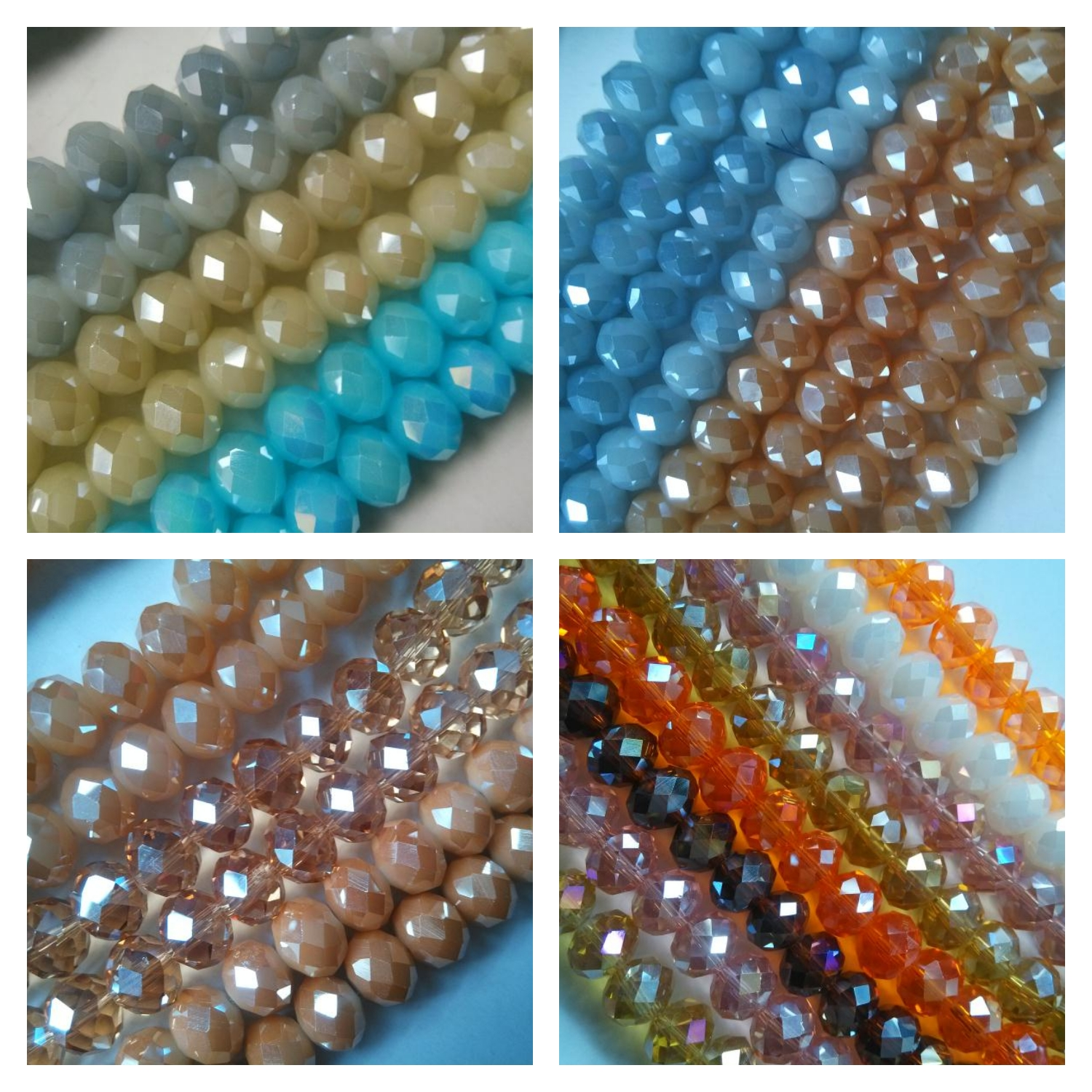 wholesale rondelle beads jewelry crystal glass beads for jewelry making