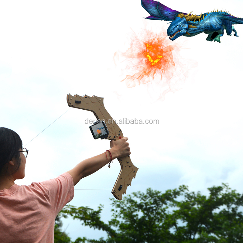 2019 innovative Wooden AR bow with shooting game for kid <strong>toys</strong>