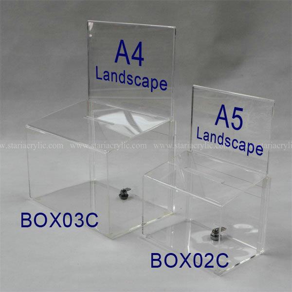 A5 Landscape Header Card Holder With Suggestion Box,Acrylic Raffle ...
