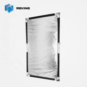 Meking 100x160cm Photo Video Studio Stainless Flag Panel Reflector with Silver/White Cloth