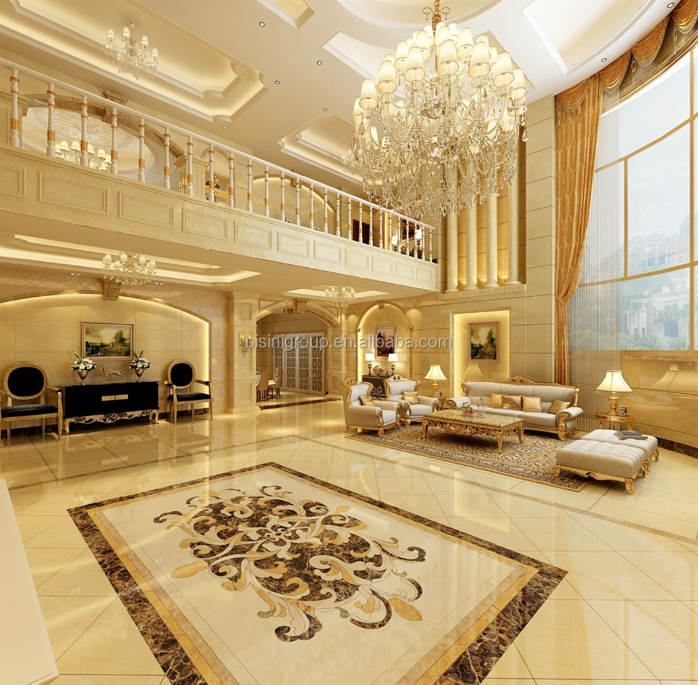Luxury Foyer Interior Design: Graceful European Style Villa Foyer Interior Design 3d