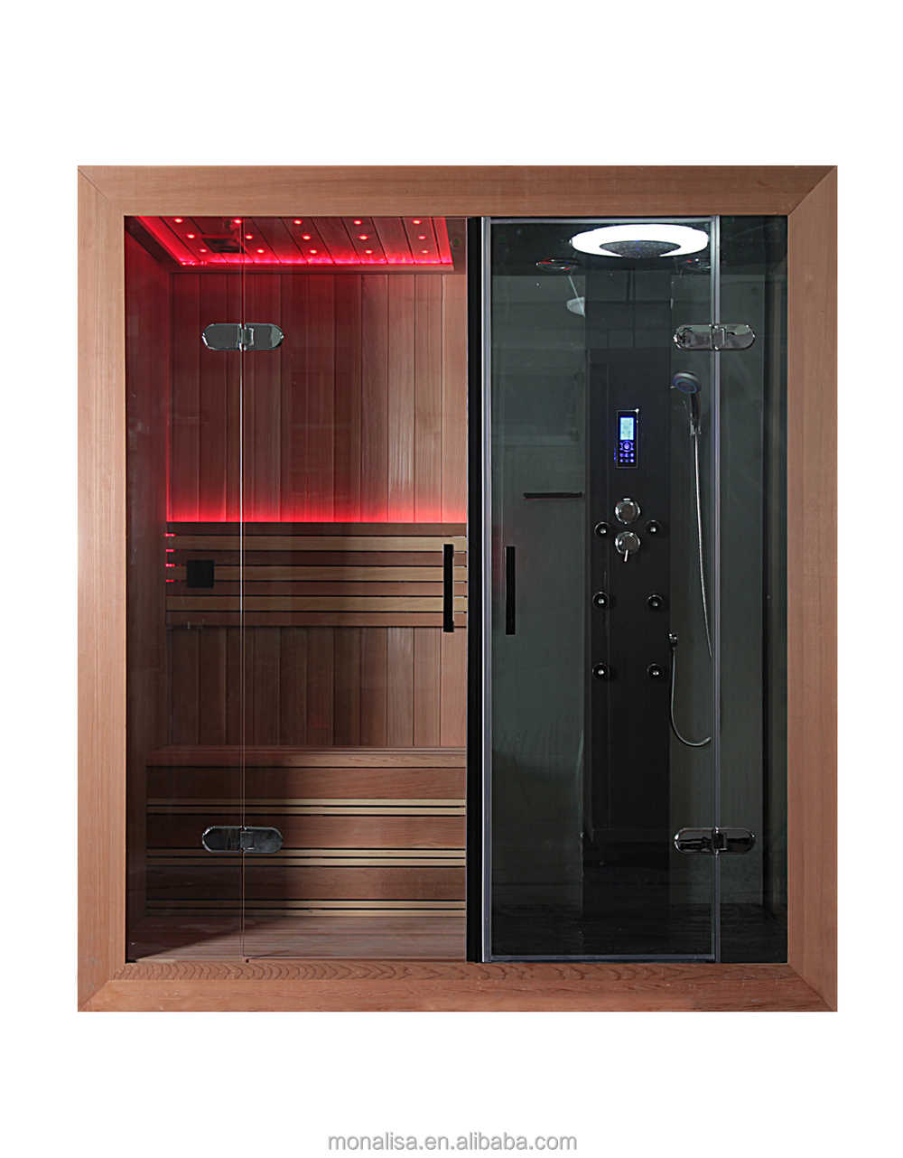 Luxury Bathroom Design Portable Led Steam Shower Sauna